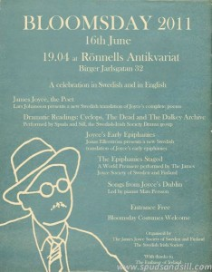 Bloomsday 2011 - Poster